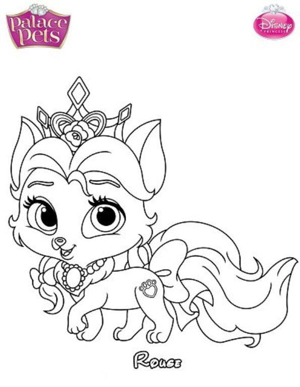 kleurplaten disney princess palace pets