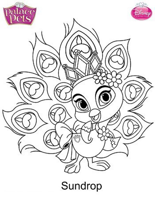 It is a graphic of Epic Palace Pets Coloring Page