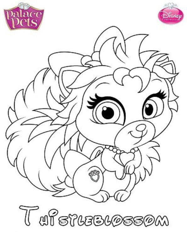 palace pets coloring pages for kids - photo #37