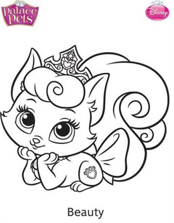 Kids-n-fun.com | 36 coloring pages of Princess Palace Pets