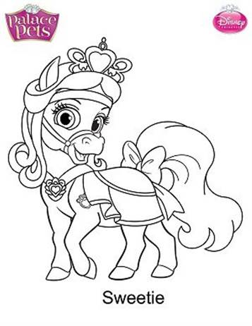 Kids-n-fun.com | 36 coloring pages of Princess Palace Pets