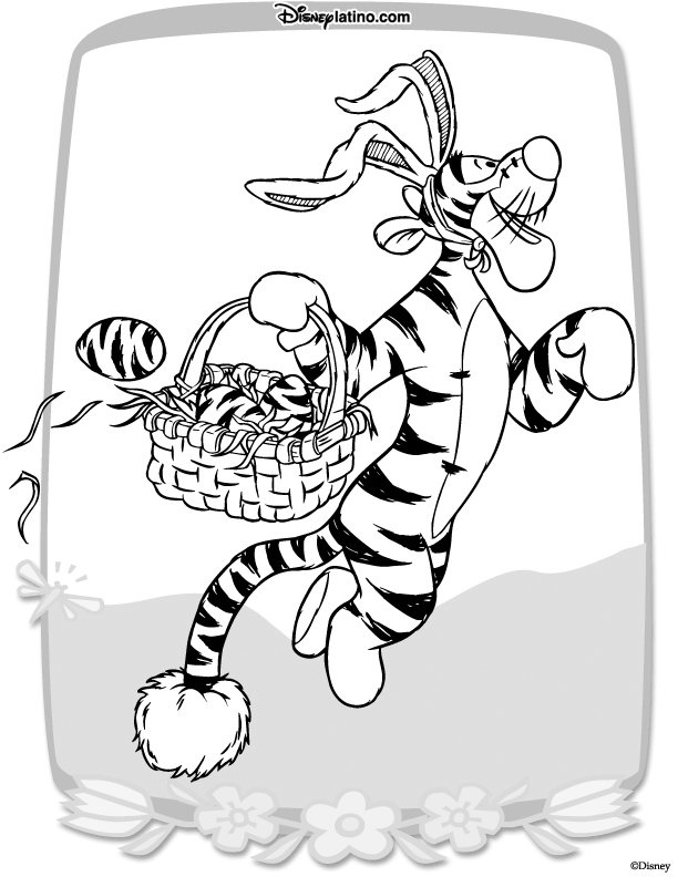Kids-n-fun.com   21 coloring pages of Easter with Disney