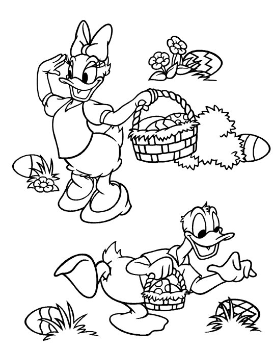 Kids-n-fun.com | 21 coloring pages of Easter with Disney