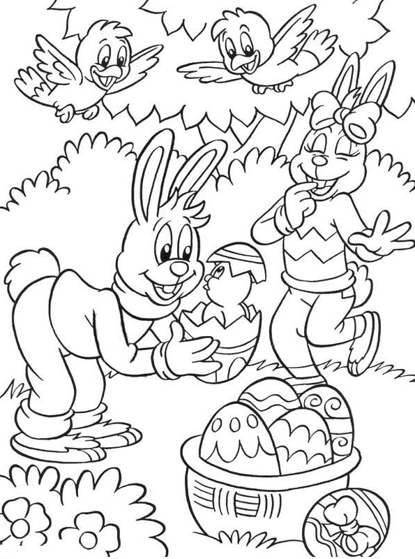 n 25 coloring pages of easter
