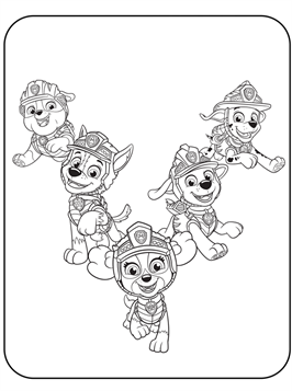 kids-n-fun   11 coloring pages of paw patrol dino rescue