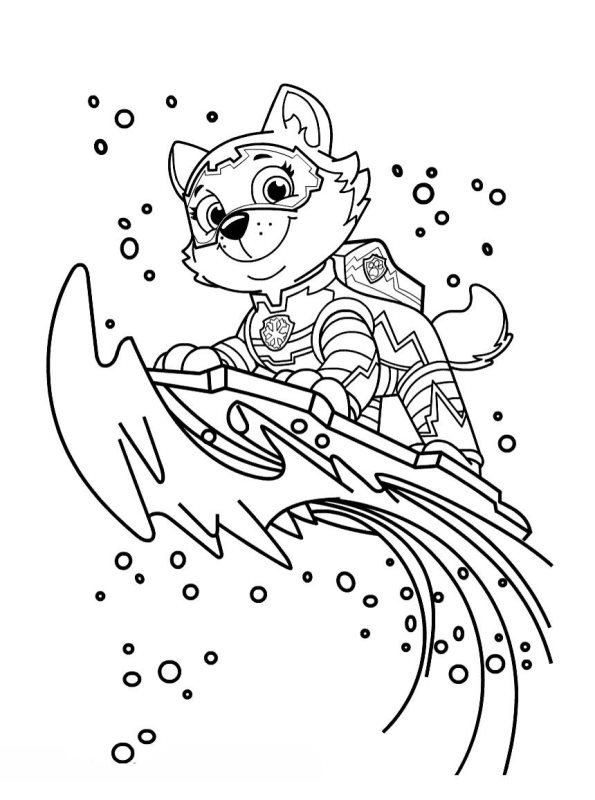 Kids-n-fun.com | Coloring page Paw Patrol Mighty Pups Everest