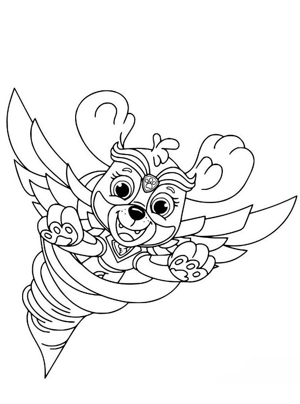 kidsnfun  coloring page paw patrol mighty pups