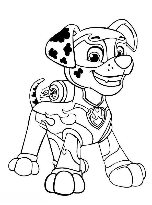 Kids-n-fun.com | Coloring page Paw Patrol Mighty Pups Marshal