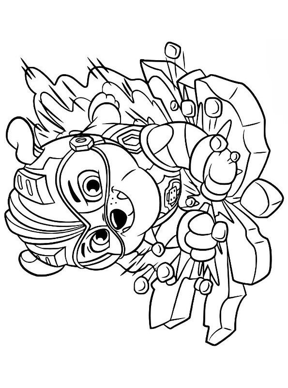 Kids N Fun Com Coloring Page Paw Patrol Mighty Pups Mighty Pups