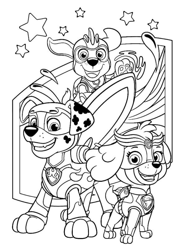 Kids-n-fun.com | Coloring page Paw Patrol Mighty Pups ...