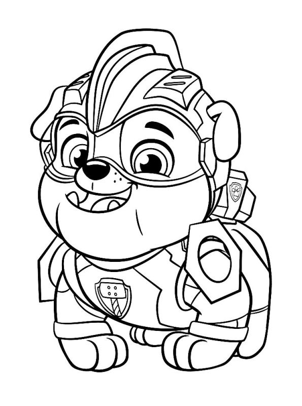 kidsnfun  coloring page paw patrol mighty pups paw