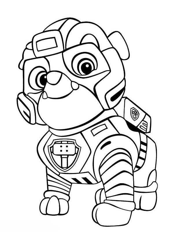Kids N Fun Com Coloring Page Paw Patrol Mighty Pups