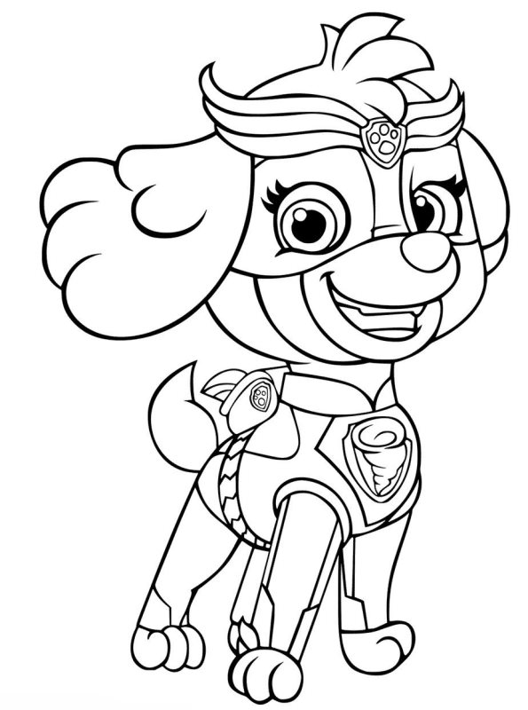 Kids-n-fun.com | Coloring page Paw Patrol Mighty Pups Skye 2