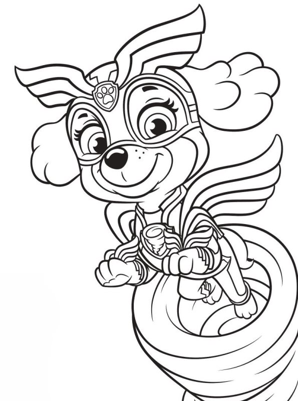 Kids-n-fun.com | Coloring page Paw Patrol Mighty Pups Skye