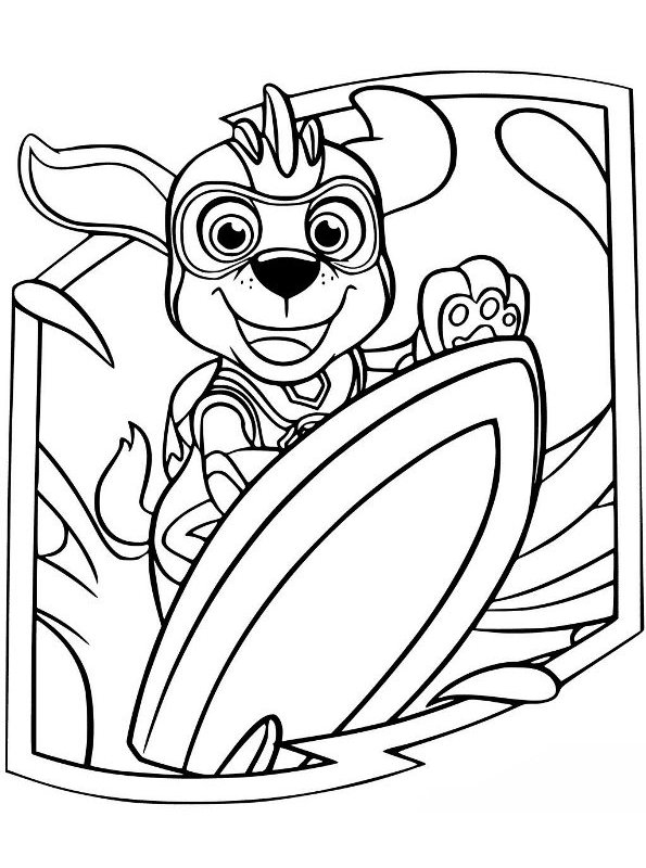 Kids-n-fun.com Coloring Page Paw Patrol Mighty Pups Zuma Mighty Pups