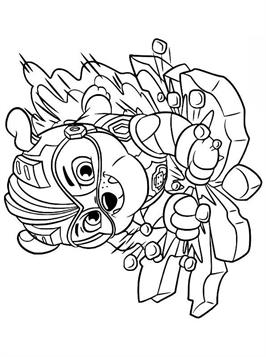 Kids N Fun Com 24 Coloring Pages Of Paw Patrol Mighty Pups