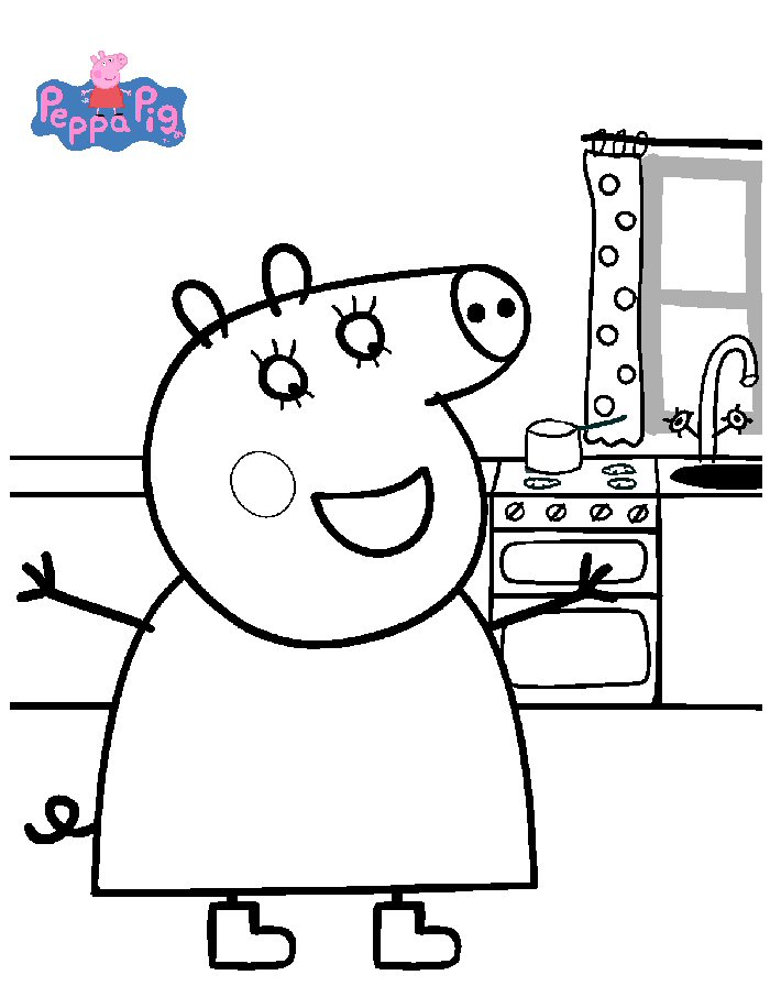 Kids N Fun Co Uk 20 Coloring Pages Of Peppa Pig