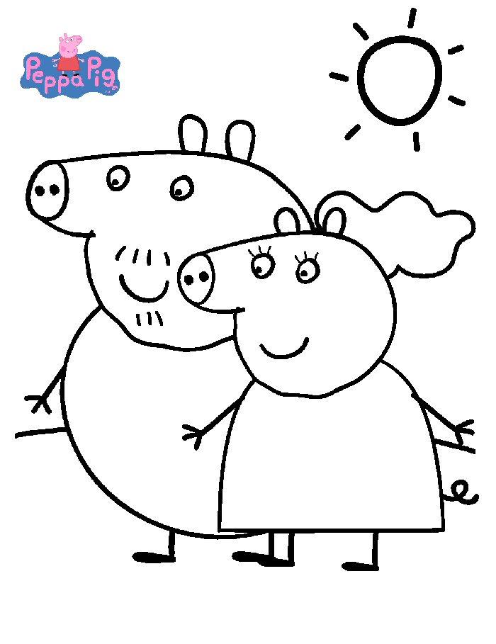 kidsnfun  coloring page peppa pig peppa pig