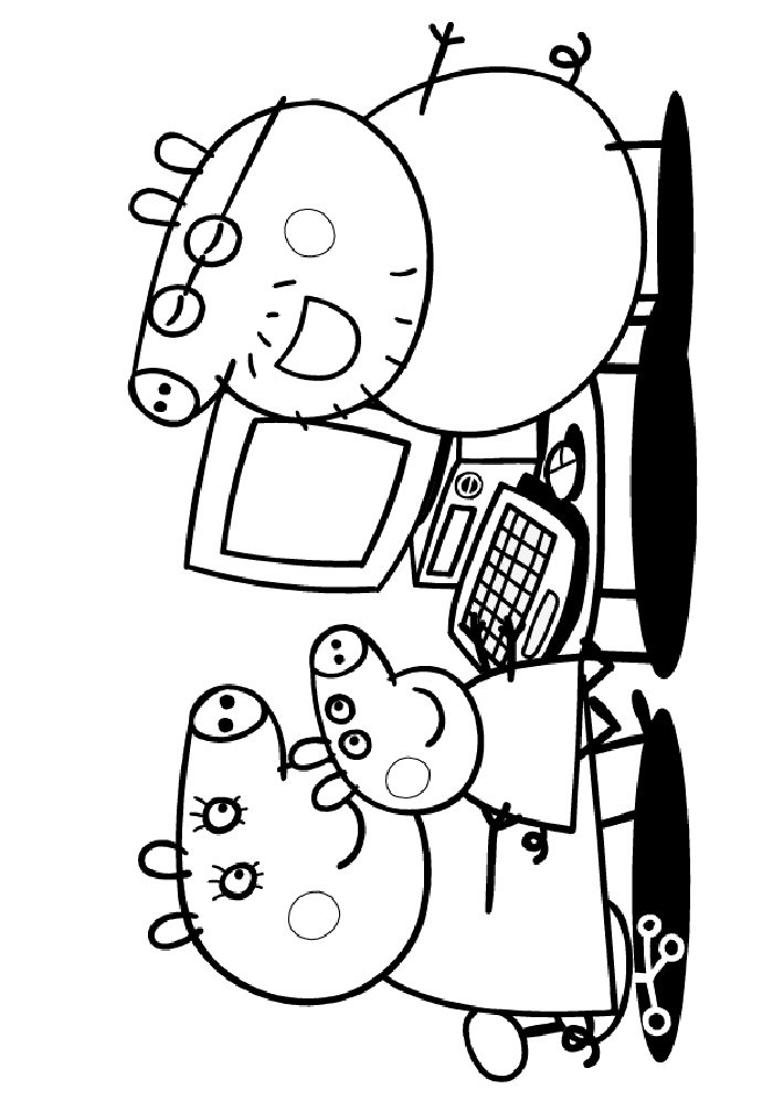 peppa pig coloring pages abcs - photo#10