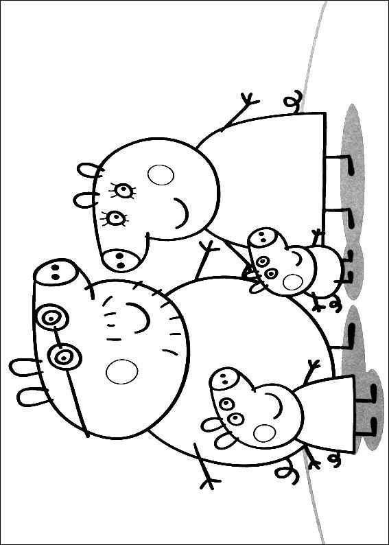 20 Peppa Pig. Coloring Pages