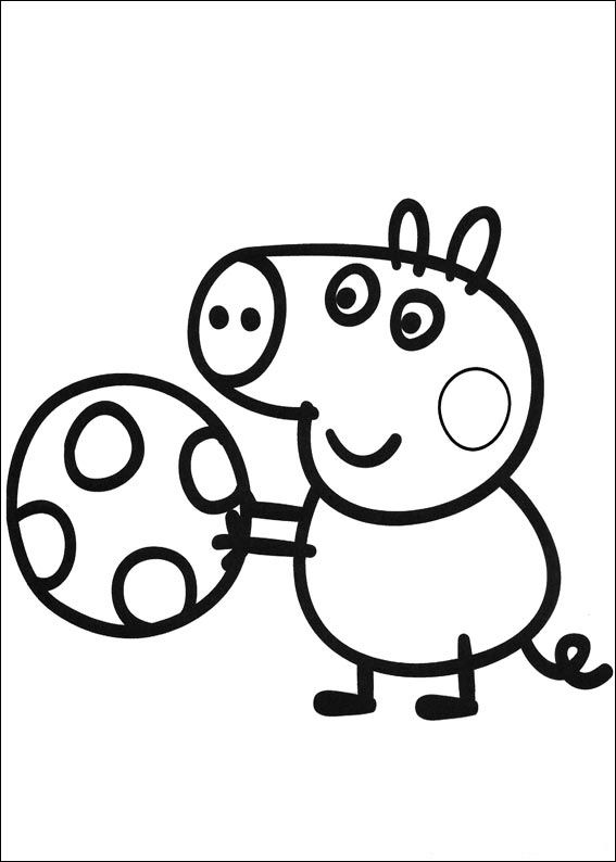 Kidsnfuncom  20 coloring pages of Peppa Pig
