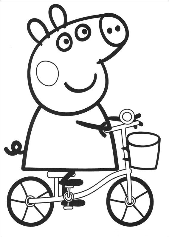 Kids n funcom 20 coloring pages of Peppa Pig
