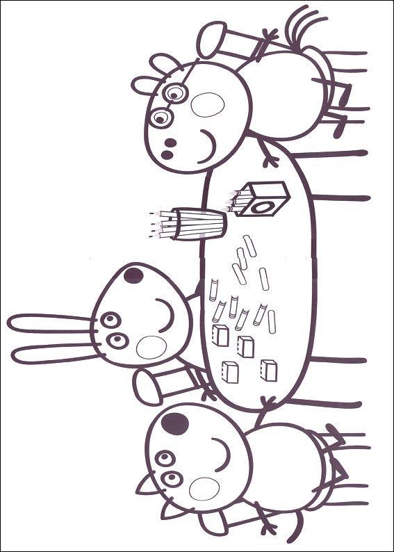 Gratis Kleurplaten Peppa Pig.Kids N Fun Co Uk Coloring Page Peppa Pig Peppa Pig