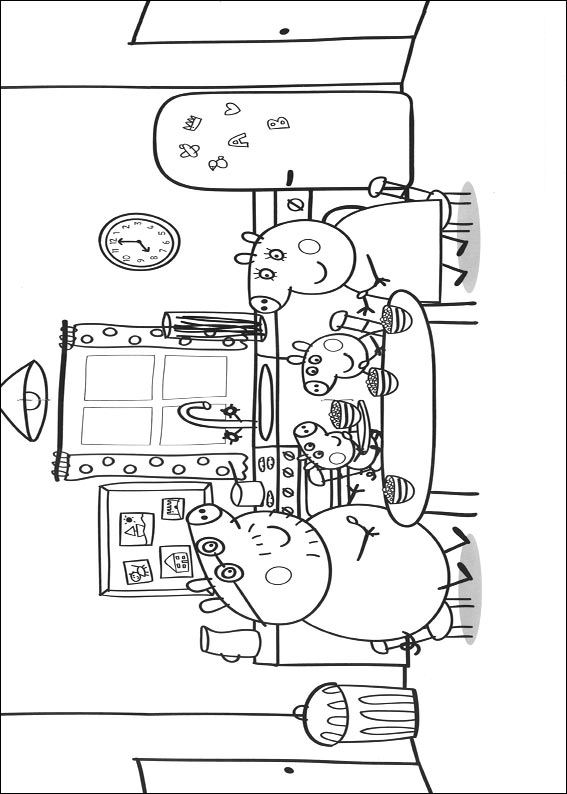 peppa pig coloring pages abcs - photo#26
