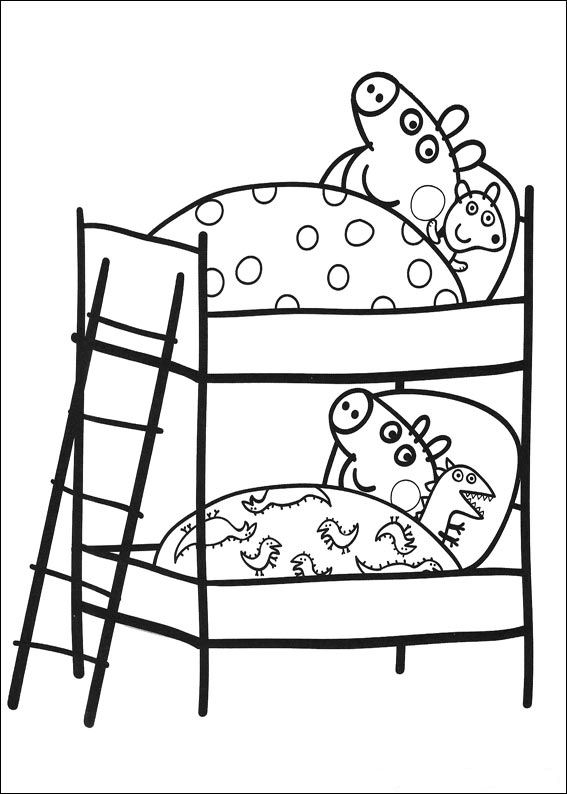 kids n funcom 20 coloring pages of peppa pig - Peppa Pig Coloring Pages Kids