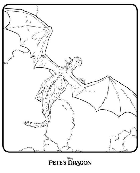 5 Petes Dragon Coloring Pages