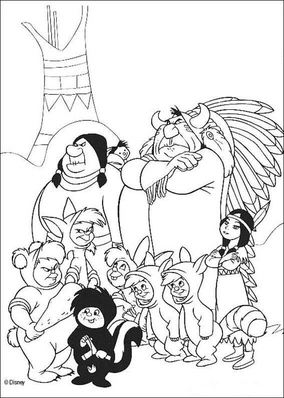 25 Peter Pan. Coloring Pages