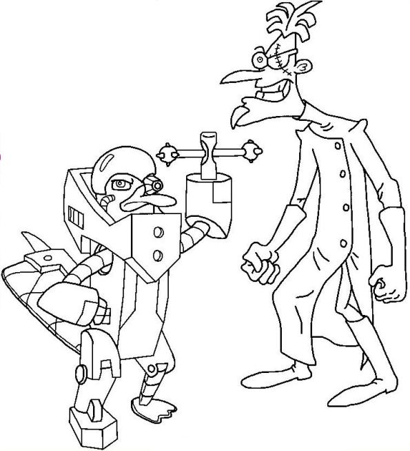 31 phineas and ferb coloring pages