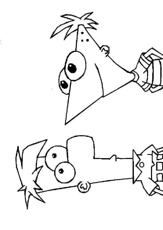 Kids n funcom 31 coloring pages of Phineas and ferb