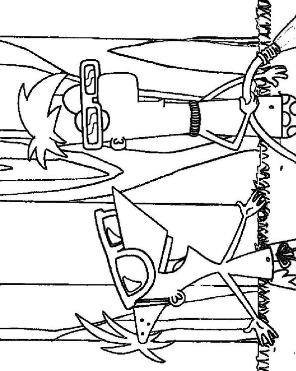 phineas n ferb coloring pages - photo#1