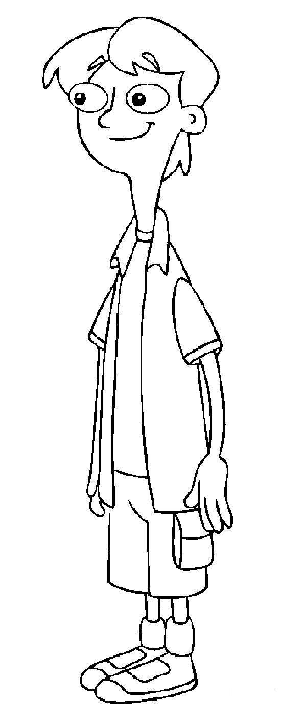 Kids-n-fun.com   31 coloring pages of Phineas and ferb
