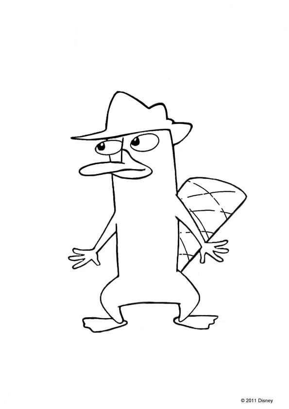 phineas n ferb coloring pages - photo#25