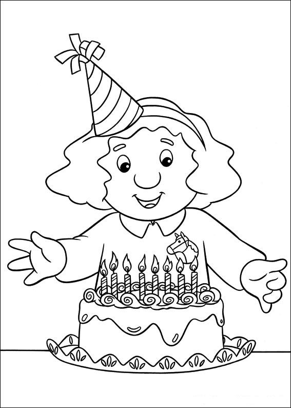 Kids n funcouk 31 coloring pages of Postman Pat