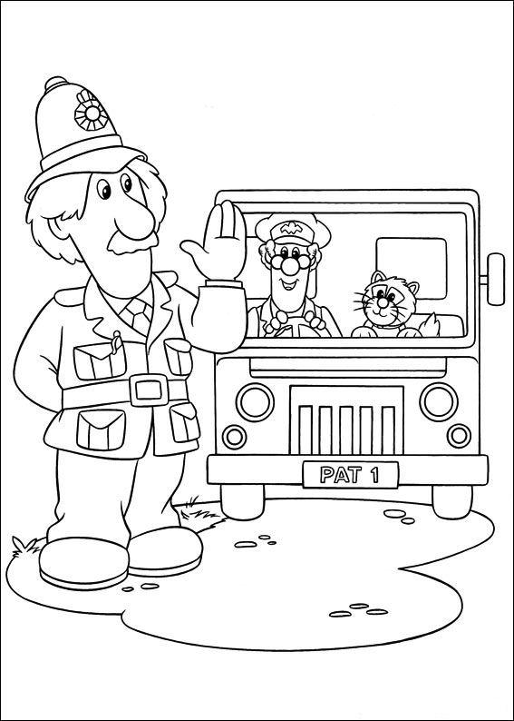 Kids N Fun Com 31 Coloring Pages Of Postman Pat