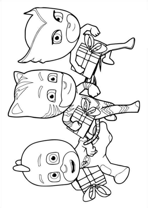 Kids-n-fun.com | 20 coloring pages of PJ Masks