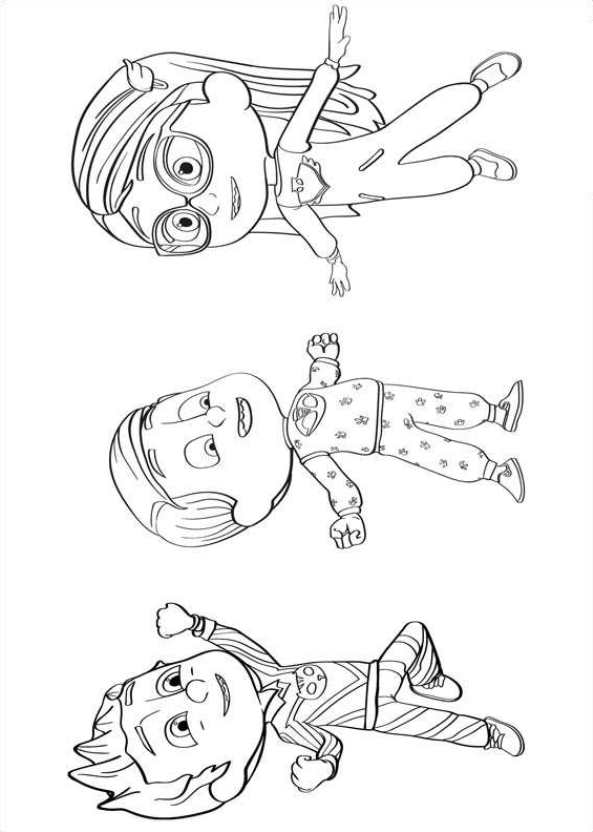Kidsnfun 20 coloring pages of PJ Masks