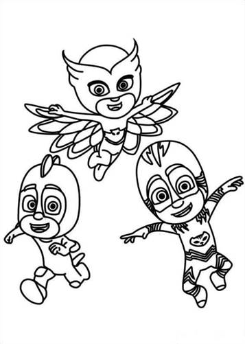Kids N Fun Com 20 Coloring Pages Of Pj Masks