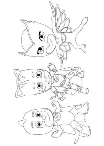 Kids-n-fun.com | 20 coloring pages of PJ Masks