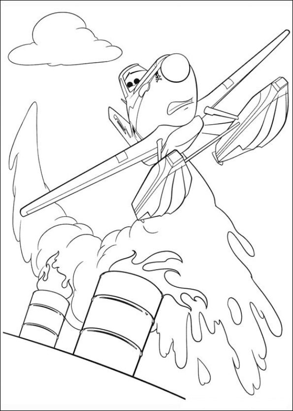 Kids-n-fun.co.uk | 69 coloring pages of Planes 2
