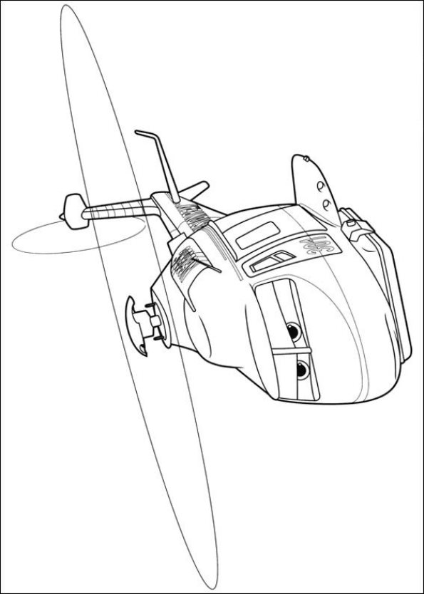 Kleurplaat Cars Helicopter Kids N Fun Com 69 Coloring Pages Of Planes 2