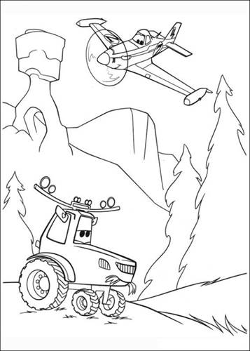 Planes: Fire & Rescue coloring picture | 500x357