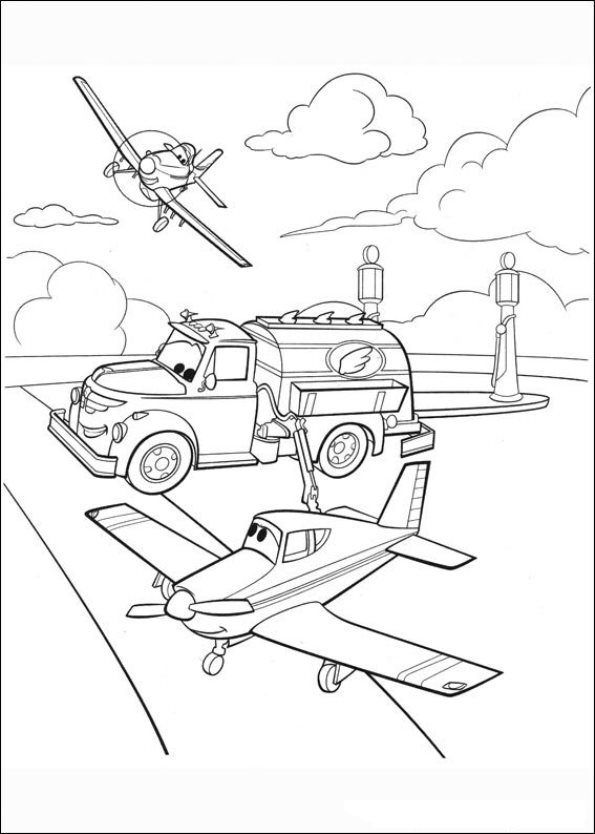 Kids n funcom 33 coloring pages of Planes