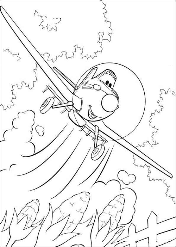 Kids N Fun Com 33 Coloring Pages Of Planes Skipper Coloring Pages