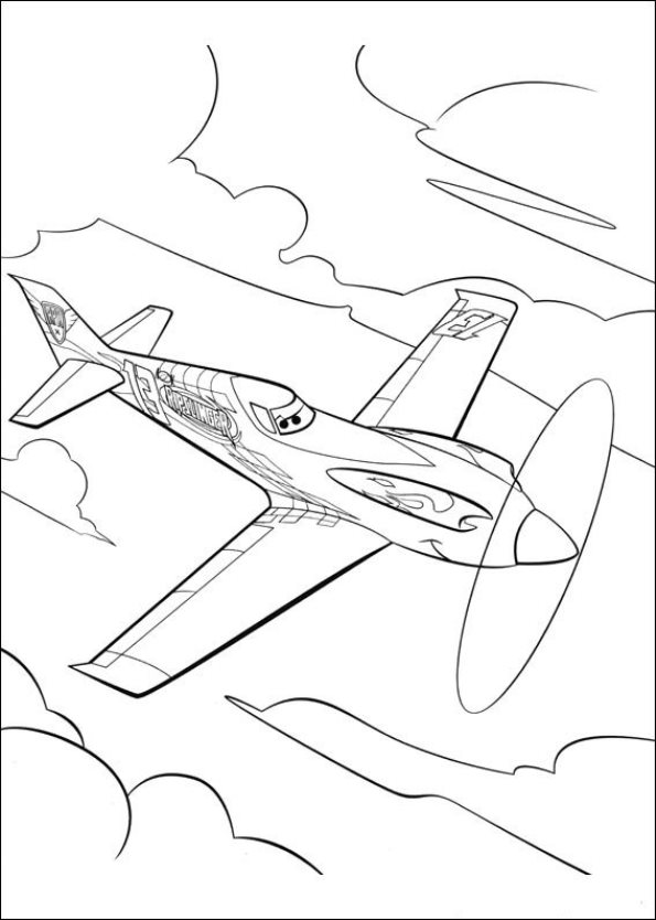 coloring pages of planes - photo#36