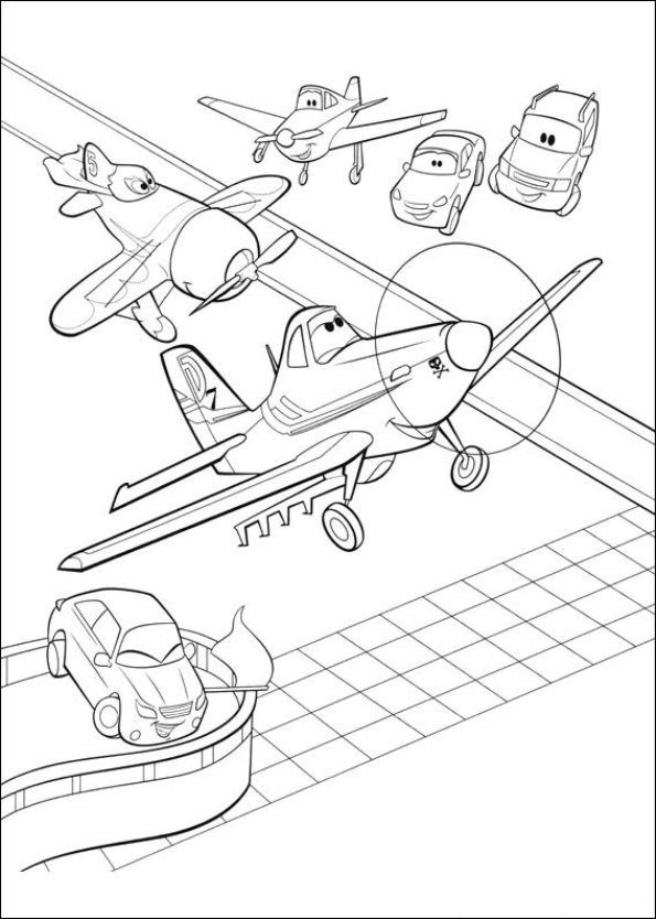 coloring pages of planes - photo#34
