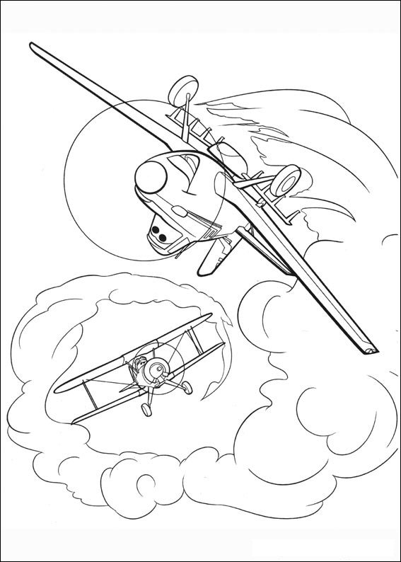 Kids N Fun Com 33 Coloring Pages Of Planes